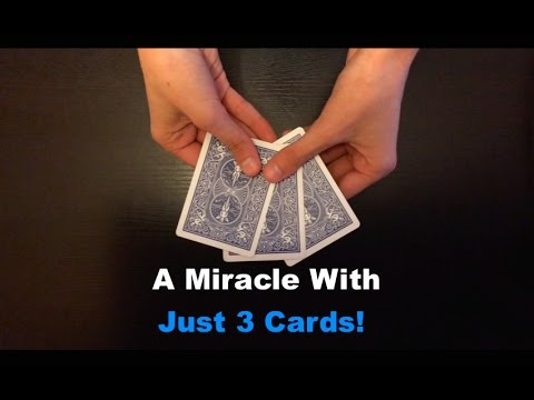 3 Cards: AMAZING SIMPLE Card Trick Revealed!